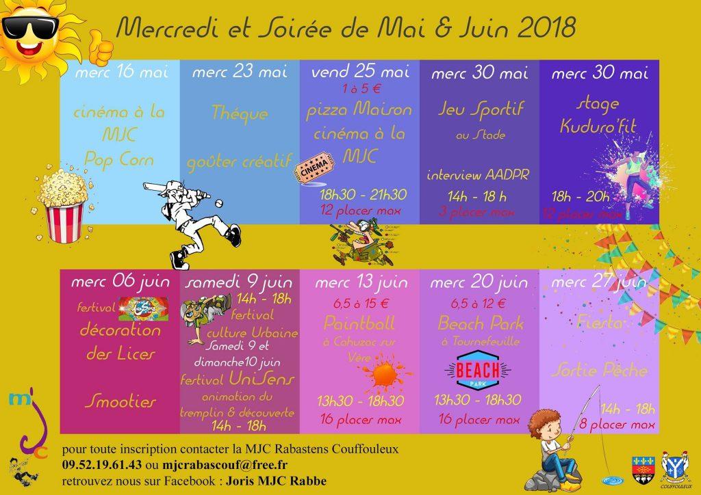 Programme mai juin 2018