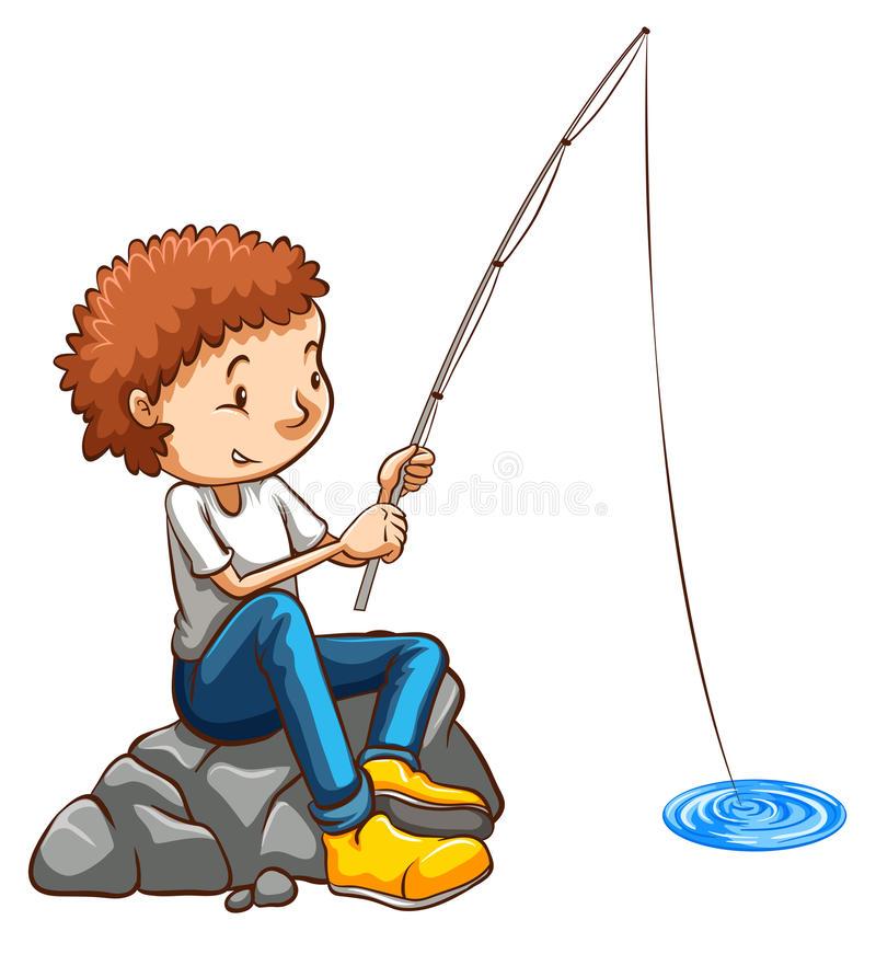 un-dessin-simple-d-une-pêche-d-homme-46259311